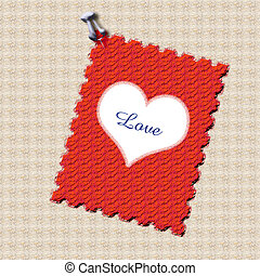 nuta, miłość, wysłany pocztą