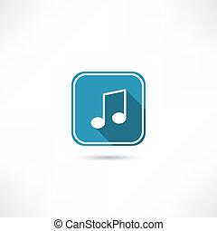nuta, muzyka, ikona