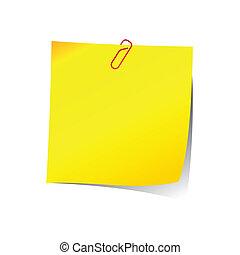 nuta, przypomnienie, papier, czerwony, zacisk