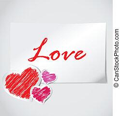 nuta, serce, papier, valentine