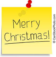 nuta, tekst, papier, 'merry, christmas!'