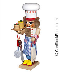 Nutcracker cook, isolated