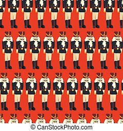 Nutcracker seamless vector Christmas pattern tile