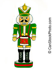 Nutcracker Soldier with Drum - A nutcracker soldier dressed...