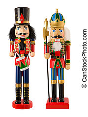Nutcrackers - A photo of a two nutcrackers isolated on a...