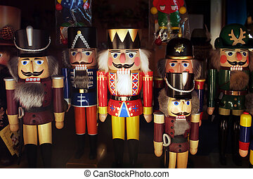 Nutcrackers - many nutcrackers together in the christmas...