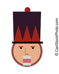 nutcraker soldier toy isolated icon