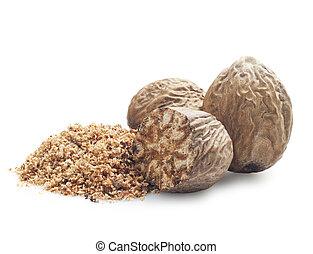 nutmeg  - Nutmeg on a white background