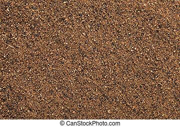 Nutmeg powder (Myristica fragrans) background. - Nutmeg...