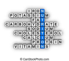 nutrição, ingrediente