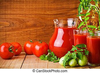 nutrição, tomates