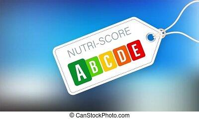 Nutri score for packaging design. Logo, icon, label stock illustration