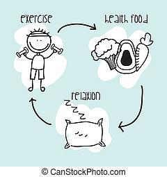 nutrición, infographics