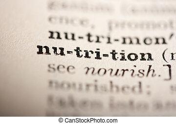 nutrición, palabra