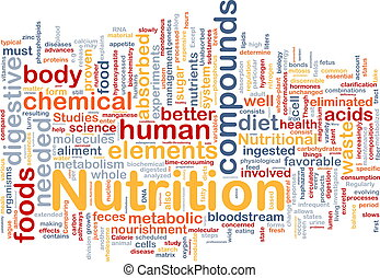 nutrición, salud, plano de fondo, concepto