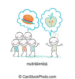 nutricionista, alimento sano, promotes