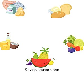 nutrientes, alimentos, corporal, completo, essencial