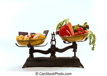 Nutrition balance - Healthcare concept: healthy and ...
