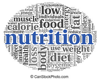 Nutrition concept in tag cloud - Nutrition words concept in...