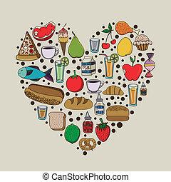 nutrition design over beige background vector illustration