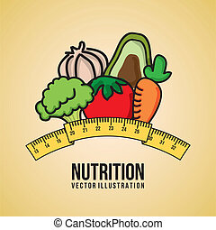 nutrition design over pink background vector illustration