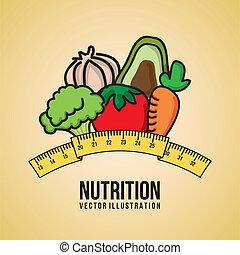 nutrition design  over pink background vector illustration