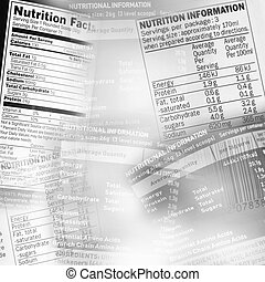 Nutrition facts - Nutrition information facts on assorted...