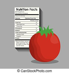 nutrition facts of tomato label content template
