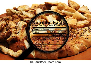Nutrition facts on bread