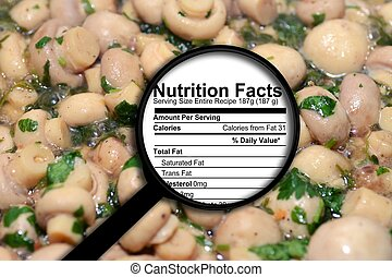 Nutrition facts on mushrooms
