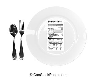 Nutrition Facts on Your Plate - Conceptual Image Related to...