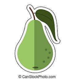 Nutrition, fruit, poire, icône, pictogramme. Nutrition..