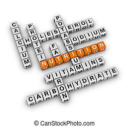 Nutrition Ingredient (3D crossword orange series)