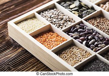 Nutrition theme leguminous vegetables. - Set of different ...