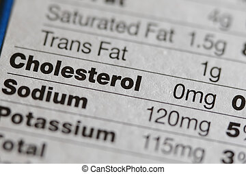 Nutritional Label - Nutritional facts label of side of box ...