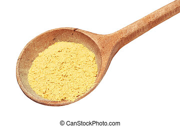 Nutritional Yeast Flakes - Nutritional yeast flakes in a...