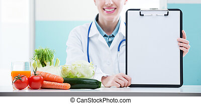Nutritionist Doctor - Cheerful healthcare professional ...