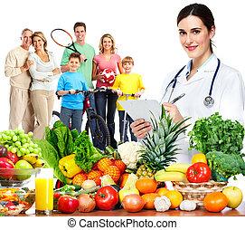 nutritionniste, family., docteur