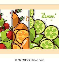 nutrizione, bandiera, organico, dieta, frutte