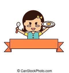 nutrizione cibo, bambini, disegno