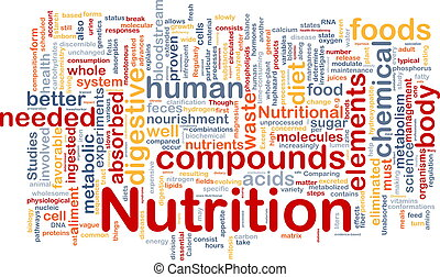 nutrizione, concetto, salute, fondo