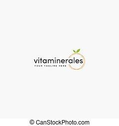 nutrizione, digiuno, sano, moderno, cibo, logotipo