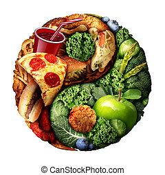 nutrizione, equilibrio, dieta