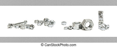 Nuts and Bolts Seamless Border