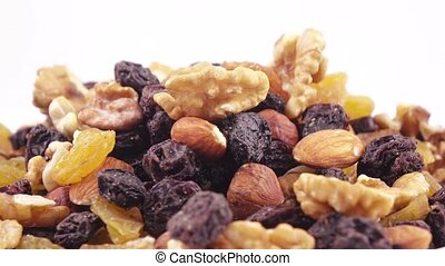 Nuts and dried fruits in bulk