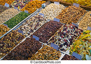 Nuts at the farmers market