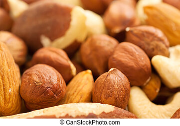 Nuts background - Background from various kinds of nuts (...