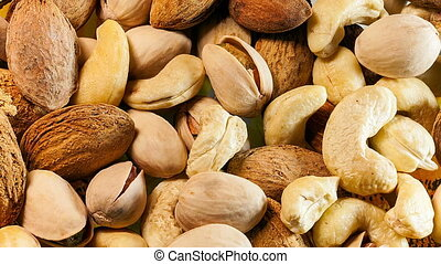 Nuts background.