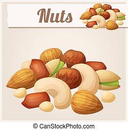 Nuts. Cartoon Vector Icon