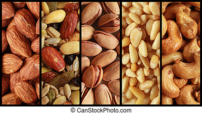 Nuts collage